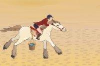 À l'aventure avec un cheval égyptien