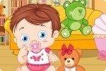 Bébé avec nounours