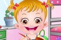 Bébé Hazel bricole