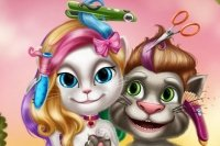 Coiffeuse de Talking Tom et Angela