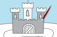 Coloriage de château