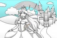 Colorier le Château et la Princesse