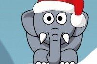 Éléphant de Noël ronflant