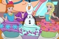 Elsa fait des cupcakes