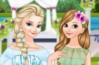 Elsa la mariée et Elsa la demoiselle d'honneur