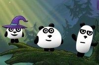 Fantaisie des 3 pandas