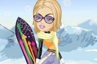 Habiller la snowboardeuse