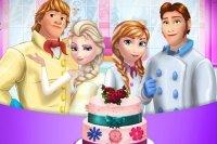 Le Gâteau de mariage des Frozen