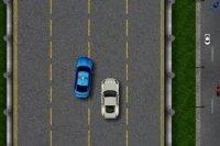 Patrouille de police sur l'autoroute