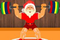 Faire de la gym avec le Père Noël