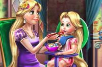 Princesse donne à manger au Bébé