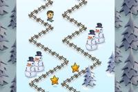 Skier en Zigzag